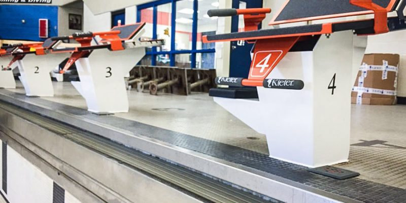 Warsaw-High-School-Keifer-Starting-Block-Install - Leisure Pool