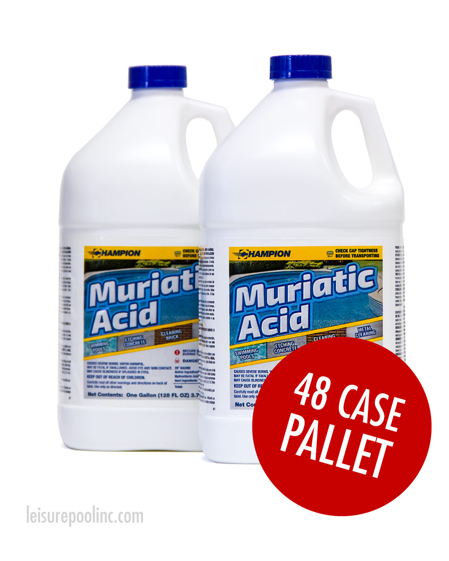 Muriatic Hydrochloric Acid Bulk Pallet Commercial Grade